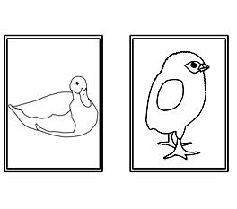 [Pracovný list Kačka a kura]
