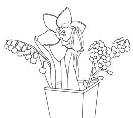 [Pracovný list Jarné kvety]