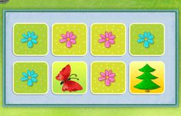 [Stromy, vtáky, kvety a motýle]